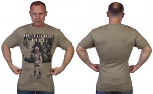 Спортивная мужская футболка Guide Life с принтом. - купить онлайн
