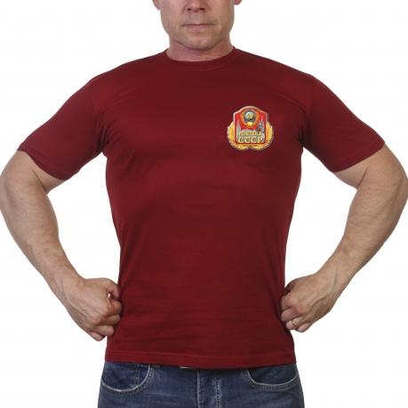 Спортивная мужская футболка с принтом СССР