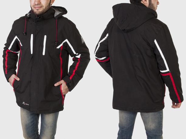 Спортивная мужская куртка на флисе Atlas For Men с капюшоном и карманами