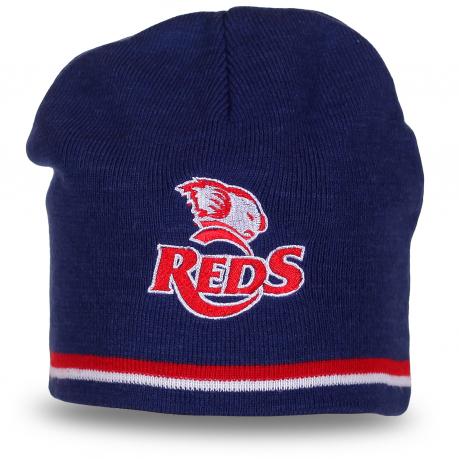 Спортивная шапка с логотипом австралийского регбийного клуба Queensland Reds. Эксклюзив!