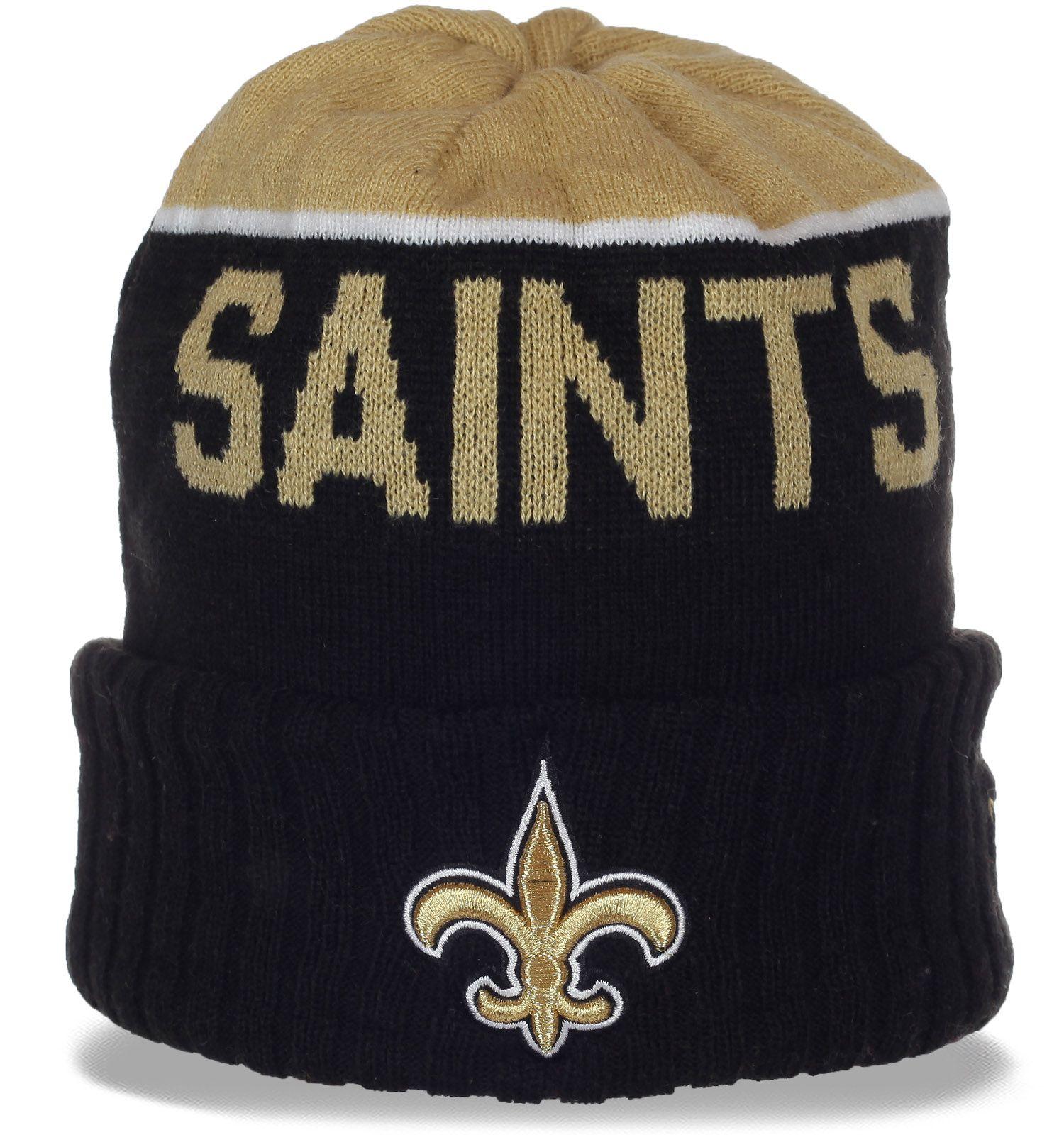 Спортивная шапочка фаната New Orleans Saints на флисе