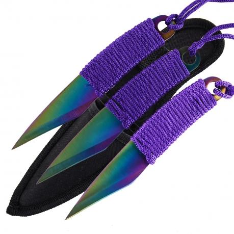 Набор ножей с титановым покрытием
