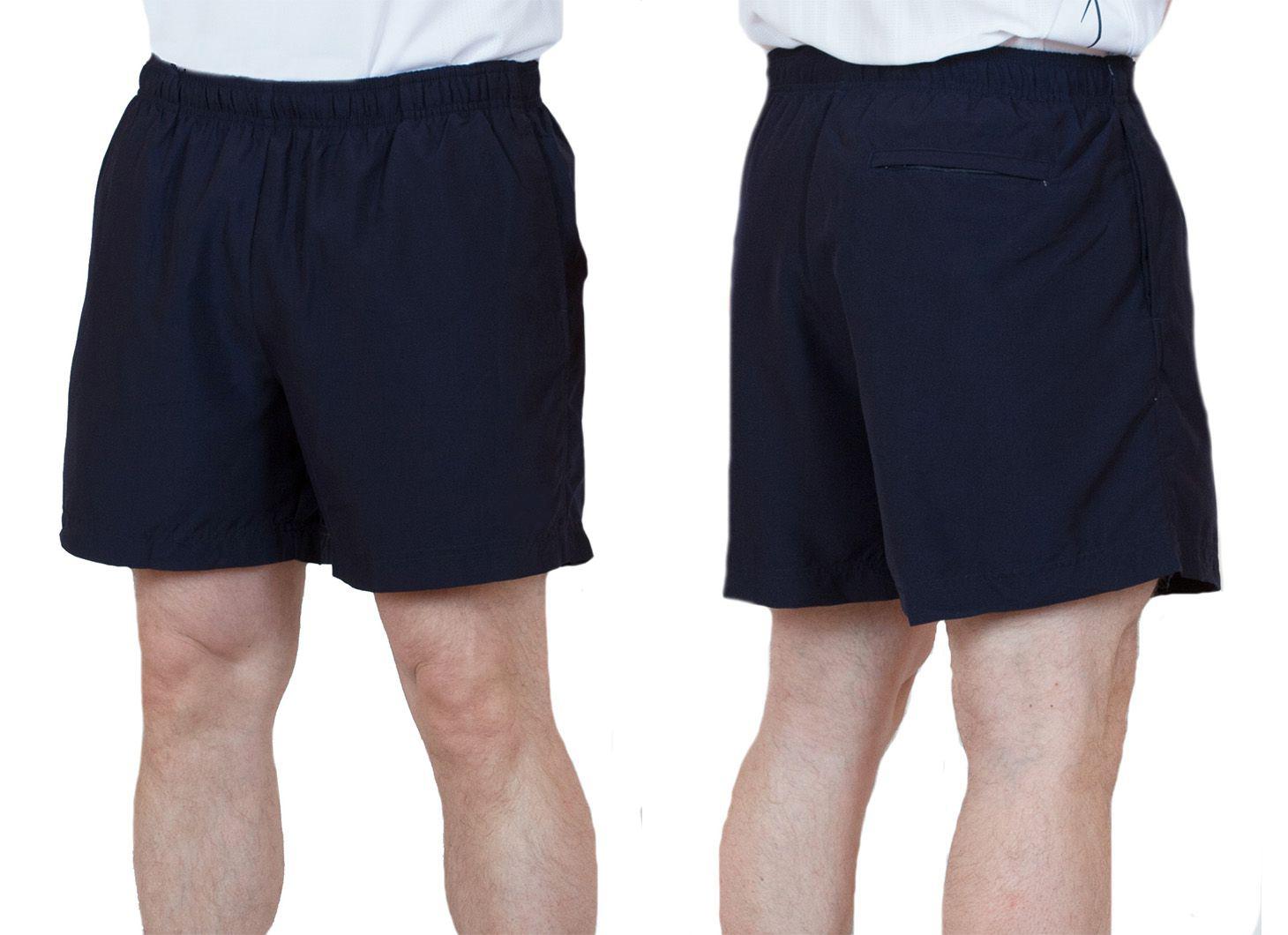 Заказать спортивные шорты для мужчин темно-синего цвета