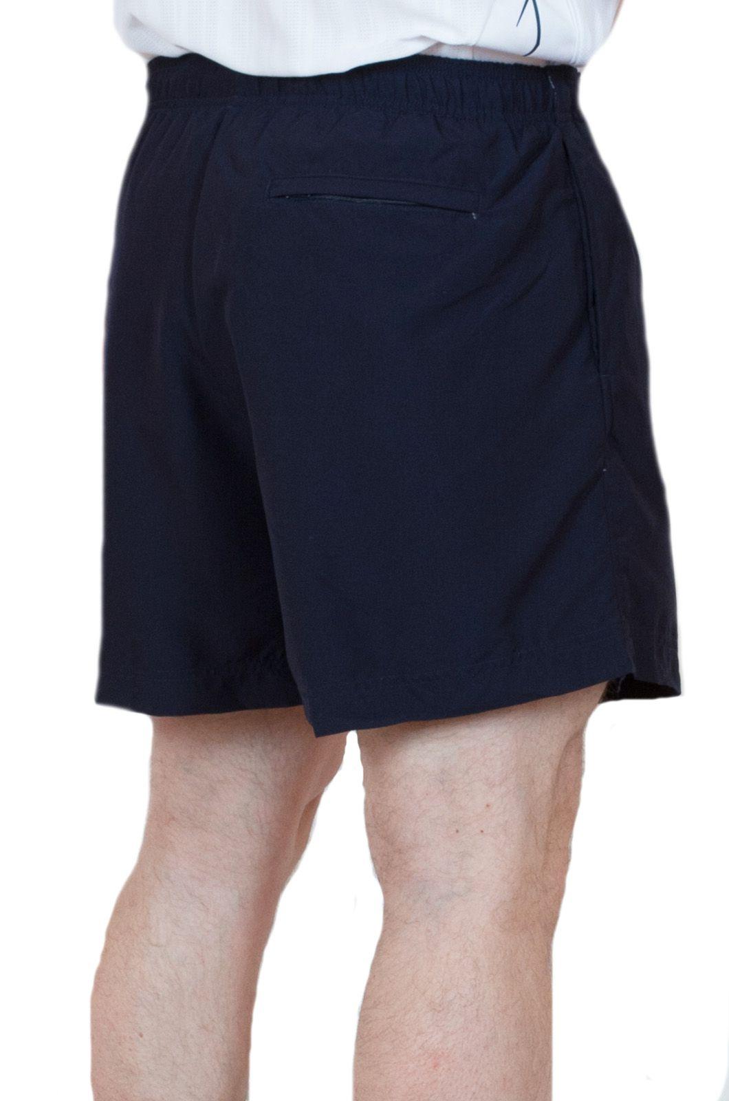 Спортивные шорты для мужчин темно-синего цвета - вид сзади