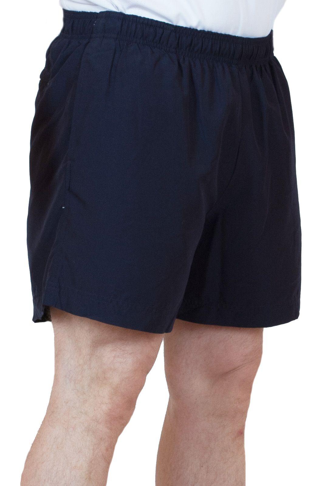 Спортивные шорты для мужчин темно-синего цвета - вид сбоку