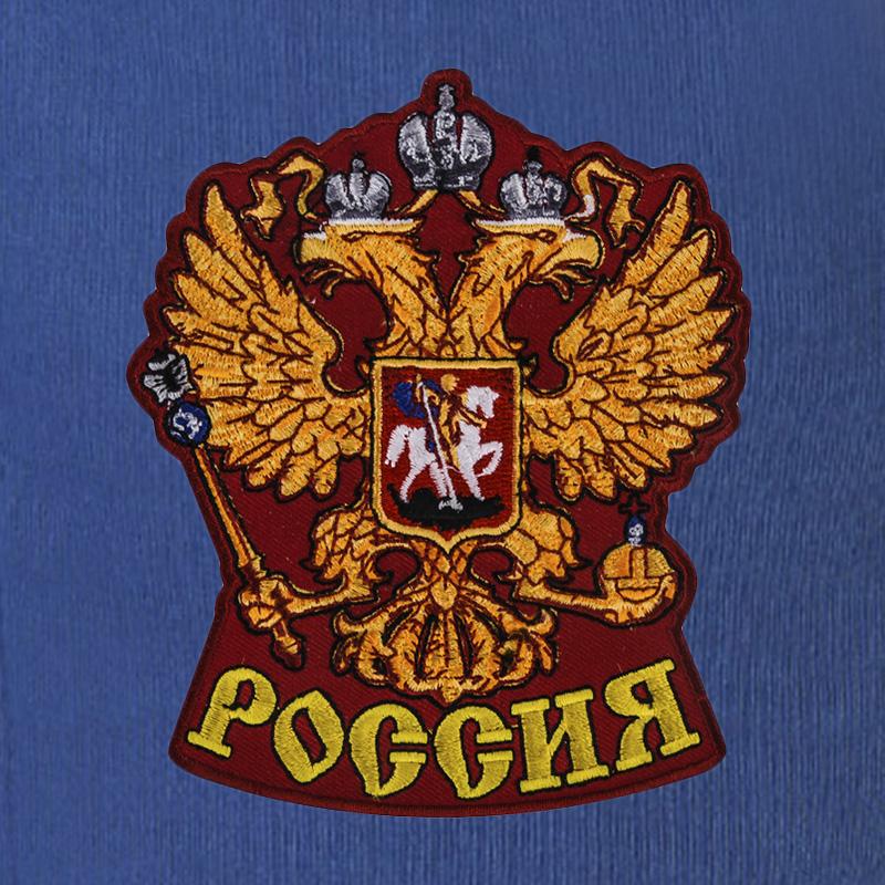 """Спортивные штаны """"Россия"""" с вышитой нашивкой"""