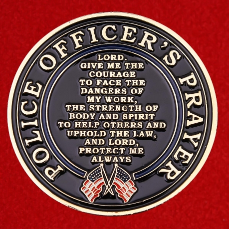 St. Michael Patron Saint of Police Officers Challenge Coin
