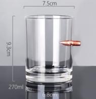 Стакан для виски с пулей на удачу (270 мл)