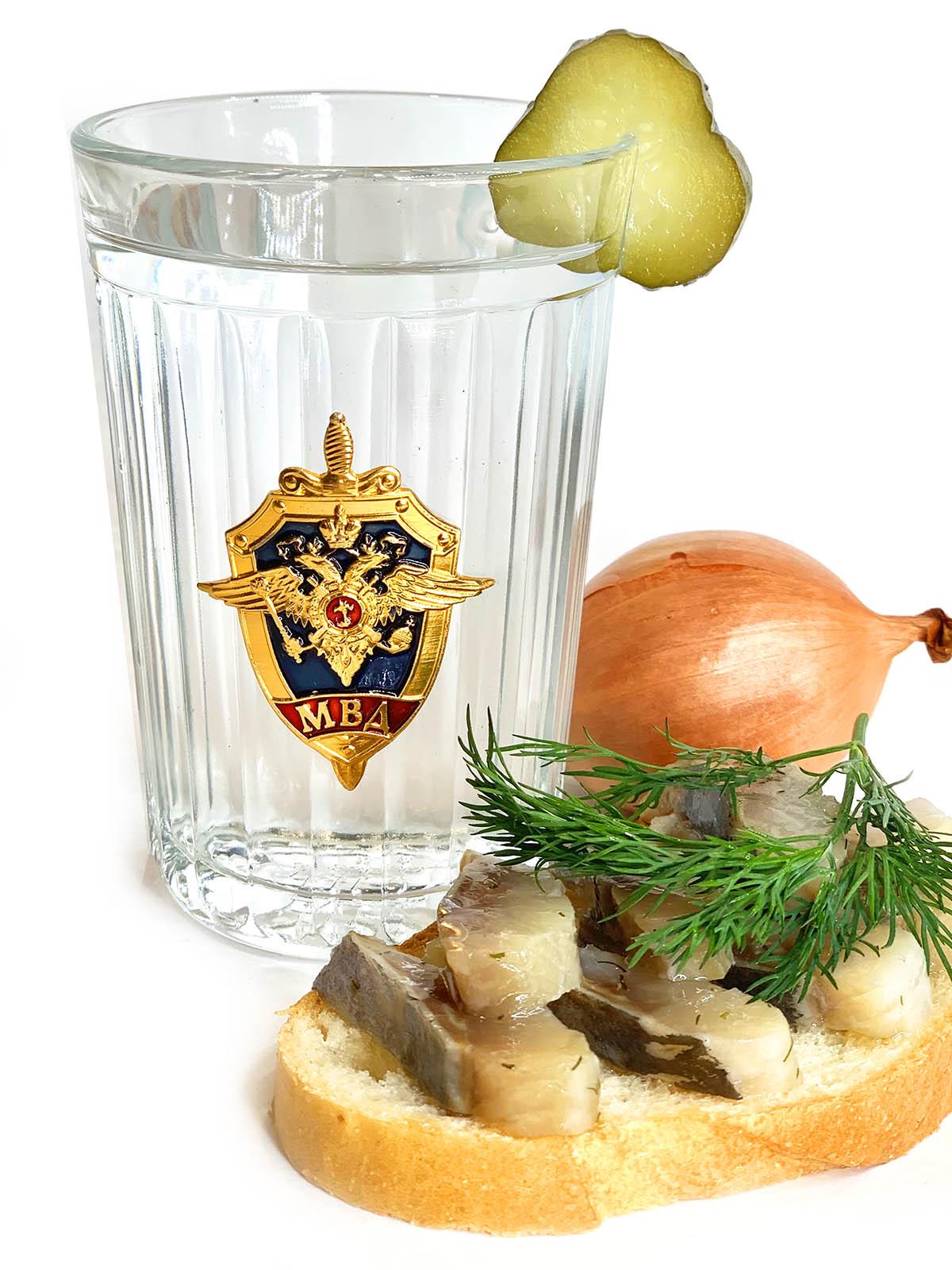 Купить граненый стакан с символикой МВД