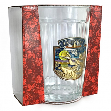 Подарочный граненый стакан Охота