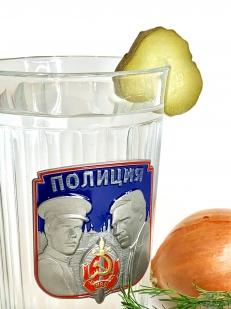 Подарочный граненый стакан Полиция