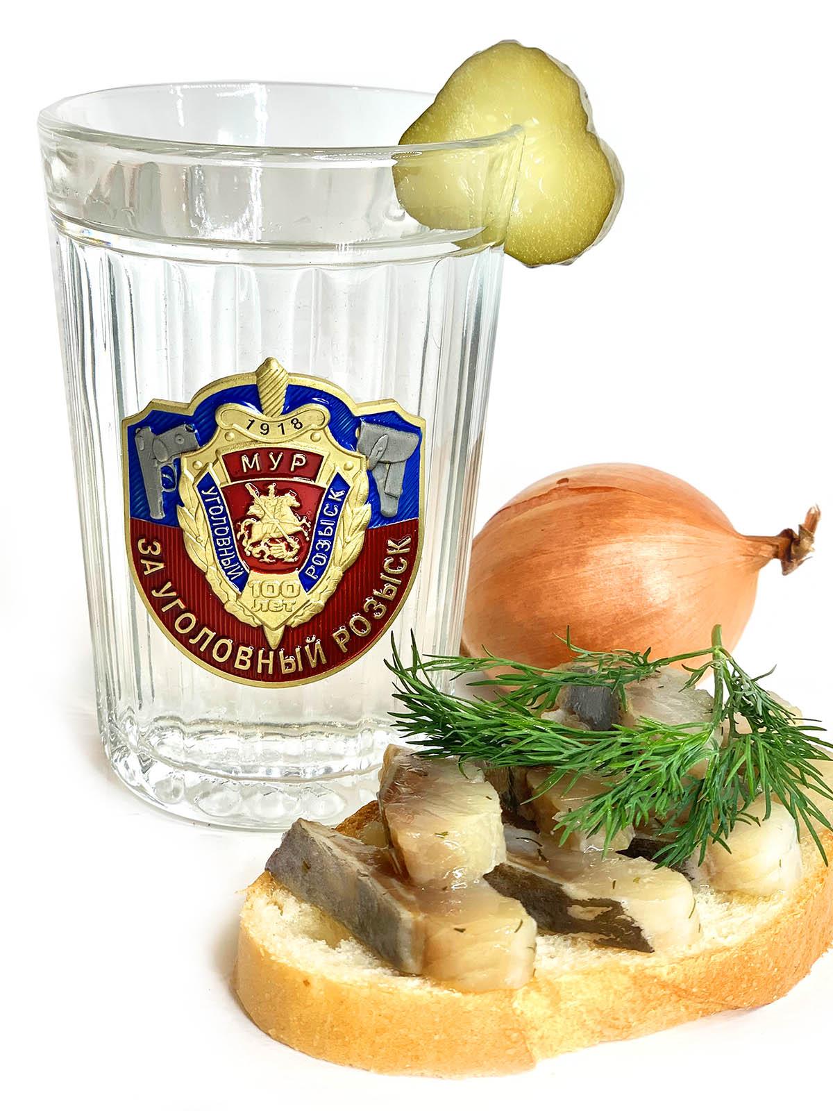 Советские граненые стаканы Уголовный розыск МУР на подарок военнослужащему