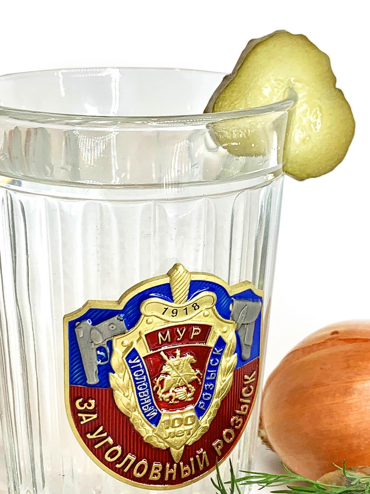 Подарочный граненый стакан МУР