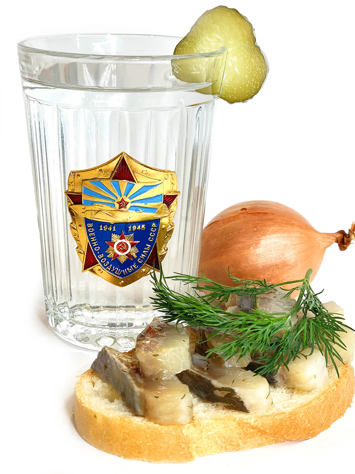 Подарочный граненый стакан ВВС