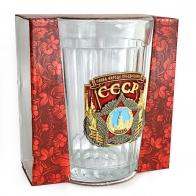 Подарочный граненый стакан СССР Слава народу-победителю!