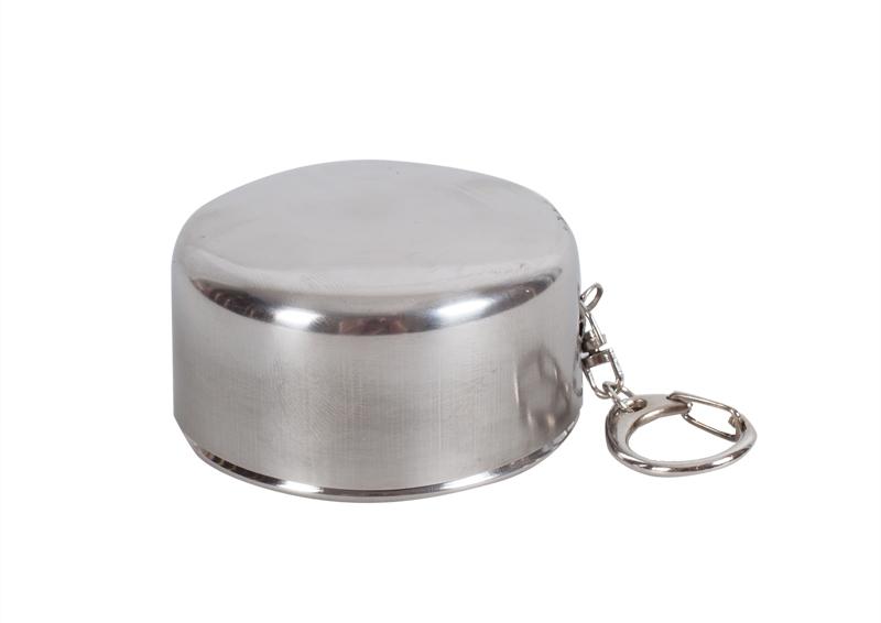 Подарок для рыбака и охотника - стаканчик складной с карабином (3 кольца) (№103)