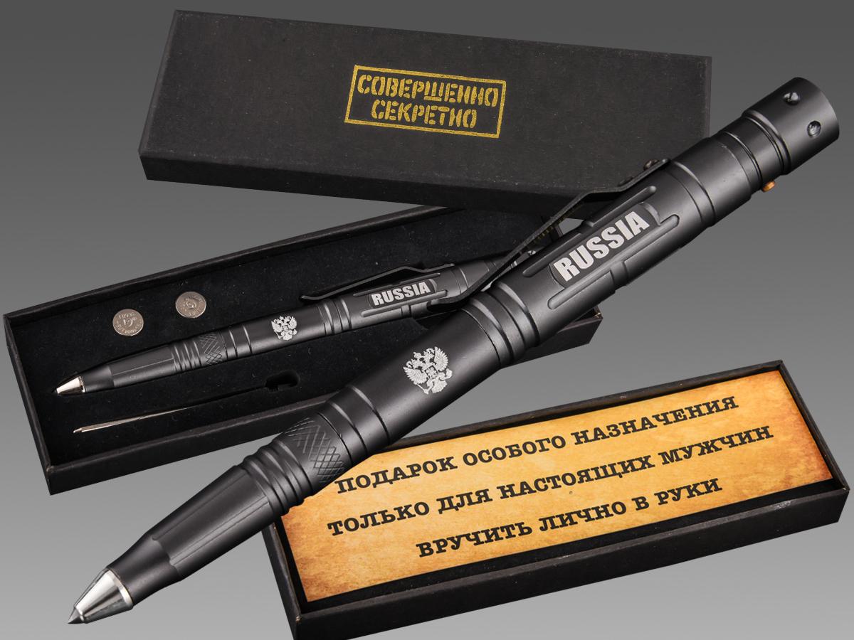 Стиль + функционал! Стальная тактическая ручка РОССИЯ.