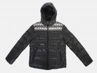 Стеганая куртка с капюшоном от Tonlion