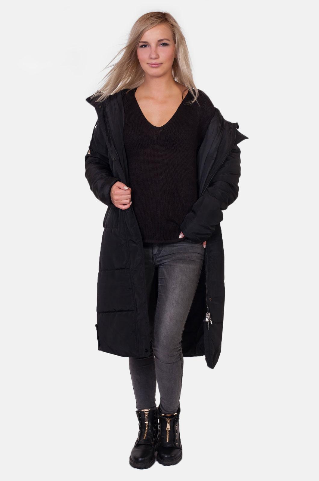 Стеганое женское пальто с капюшоном от Review (Австралия) купить в Военпро