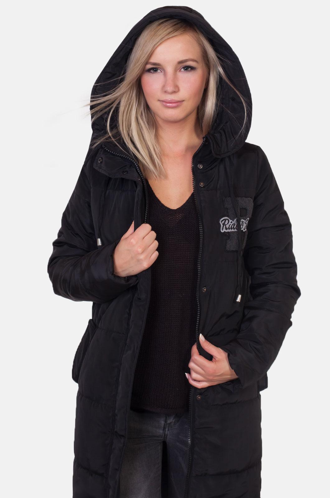 Стеганое женское пальто с капюшоном от Review (Австралия).
