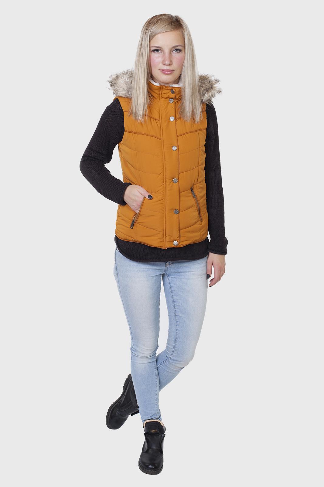 Стеганый женский жилет с капюшоном от Aeropostale (США) купить в Военпро