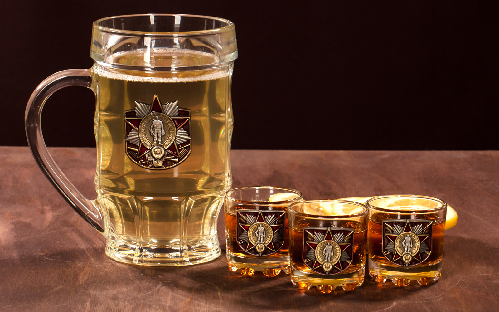 """Стеклянный набор для алкоголя """"Афганистан"""" по выгодной цене"""
