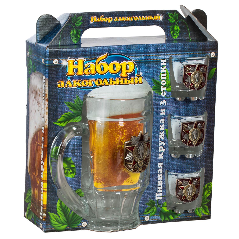 Стеклянный набор Афганистан - бокал под пиво и стопки
