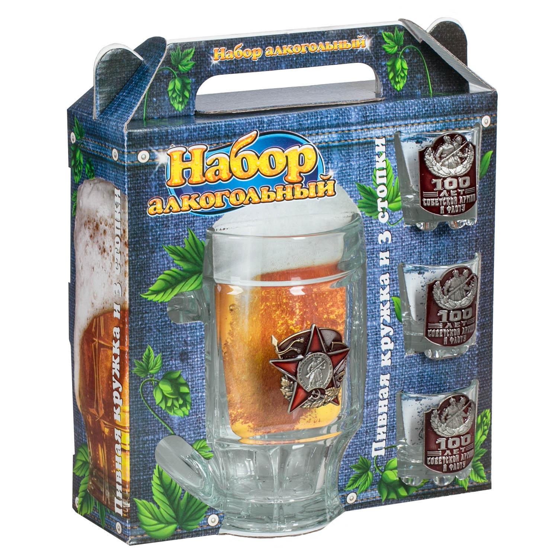 """Стеклянный набор для алкоголя """"Красная Армия"""""""
