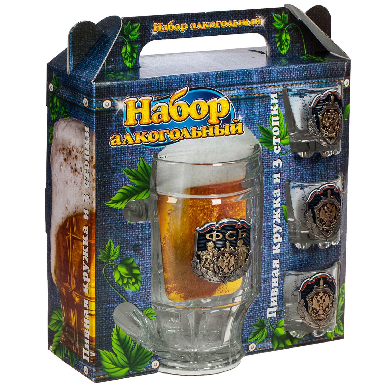 Стеклянный набор ФСБ для крепких напитков