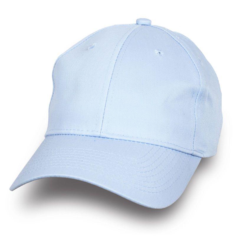 Стильная бейсболка бледно-голубая