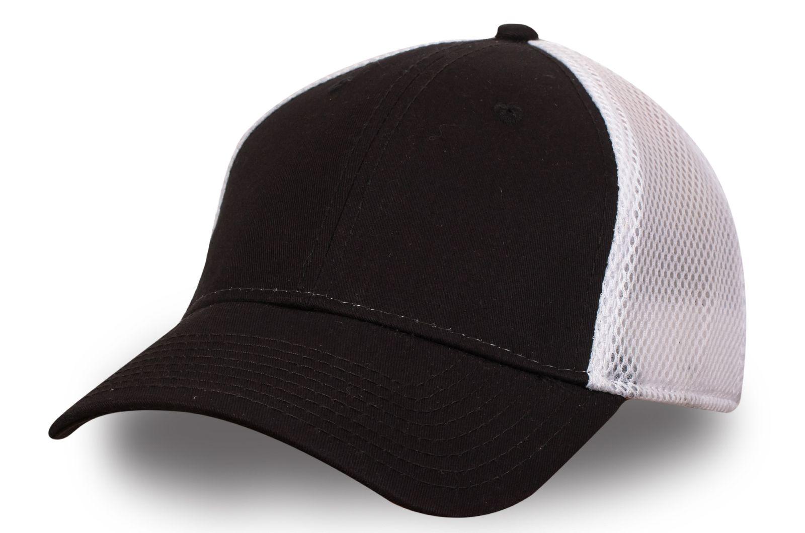 Стильная бейсболка чёрно-белая - купить с доставкой