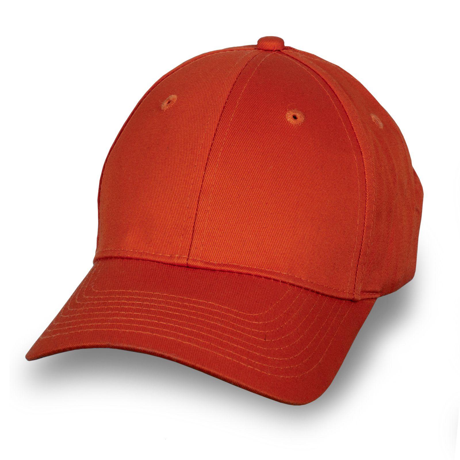 Стильная бейсболка красно-оранжевая