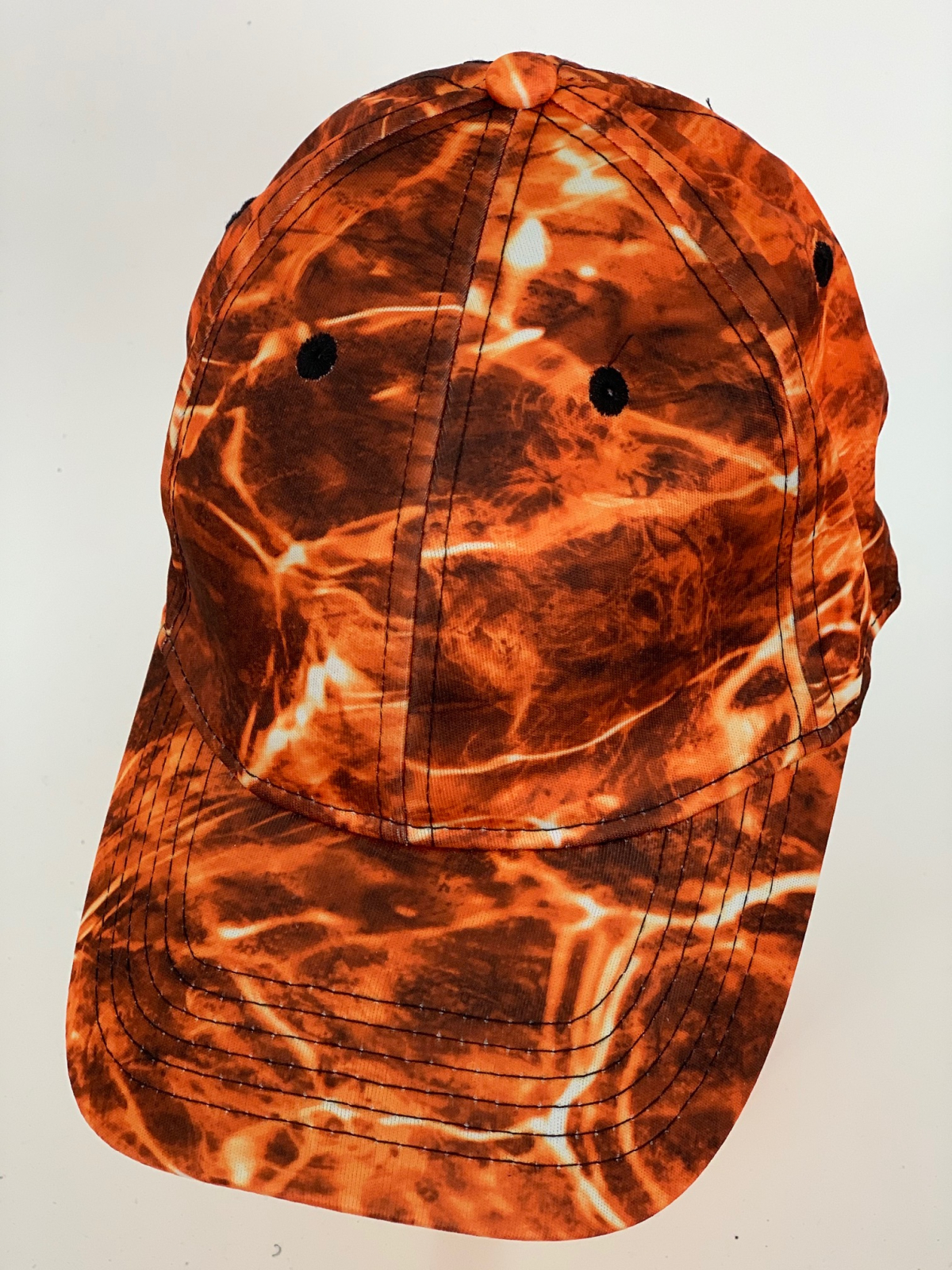 Стильная бейсболка оранжевый камуфляж