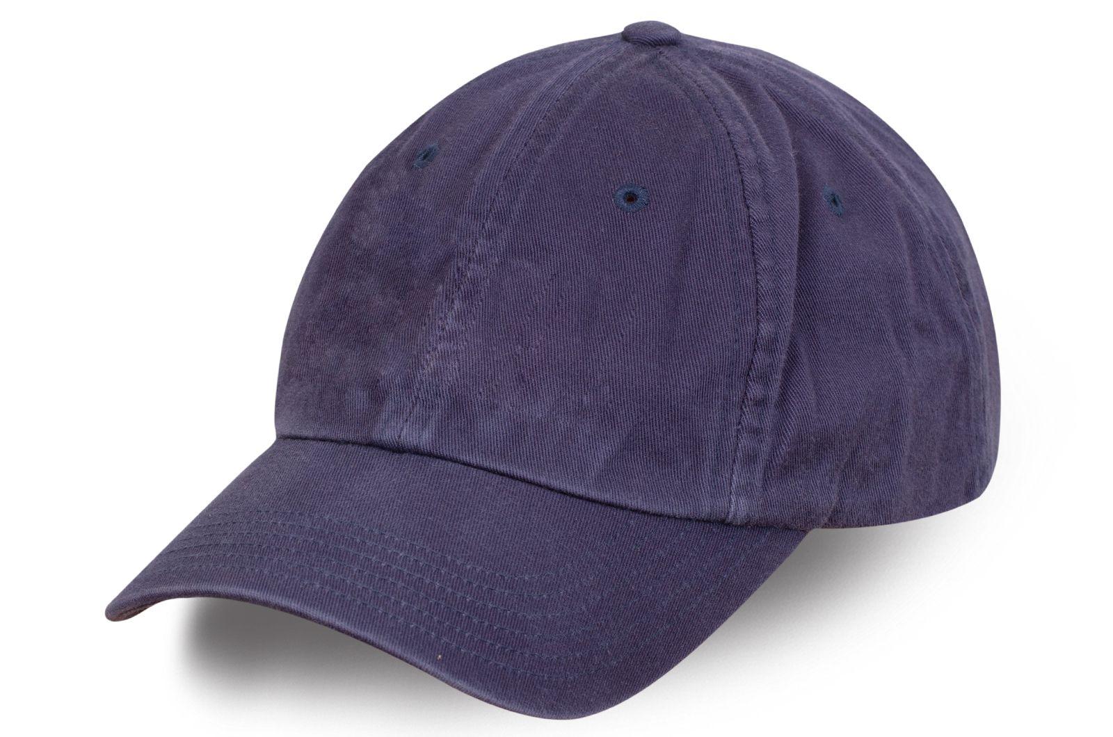 Стильная бейсболка темно-фиолетовая