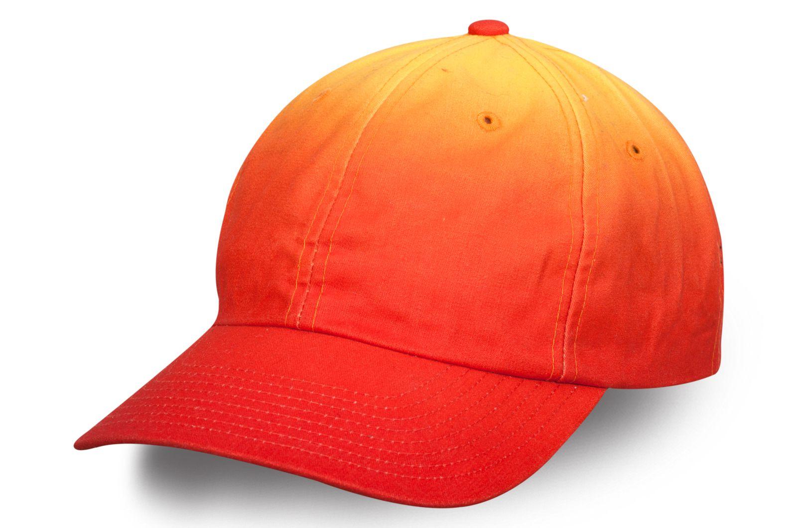Стильная бейсболка цвета оранжевый деграде