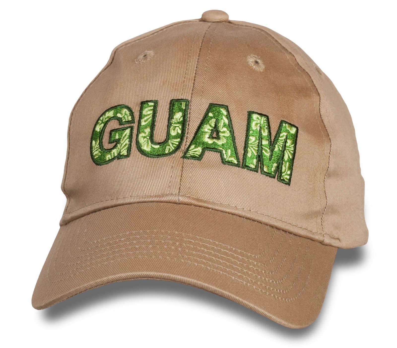 Стильная бежевая бейсболка Guam