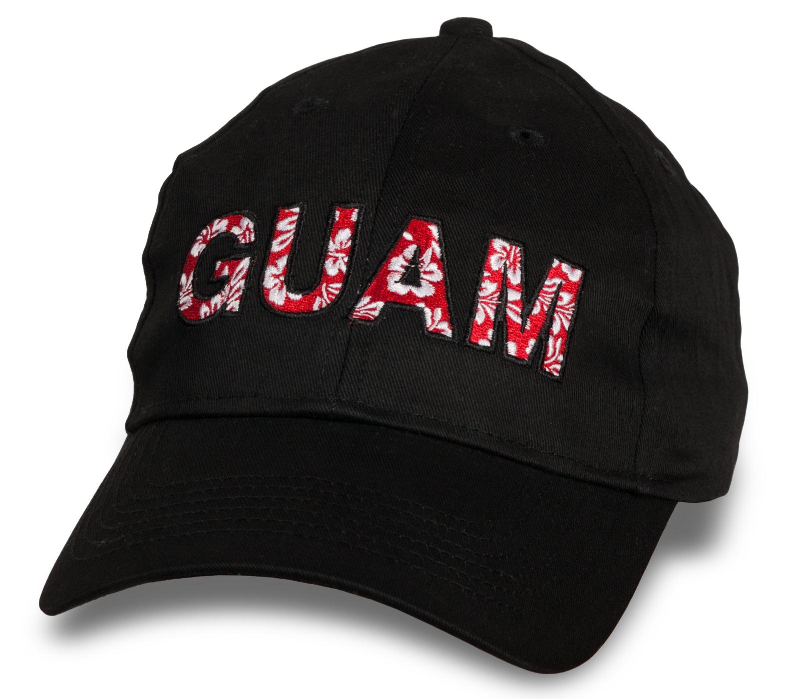 Стильная черная бейсболка Guam