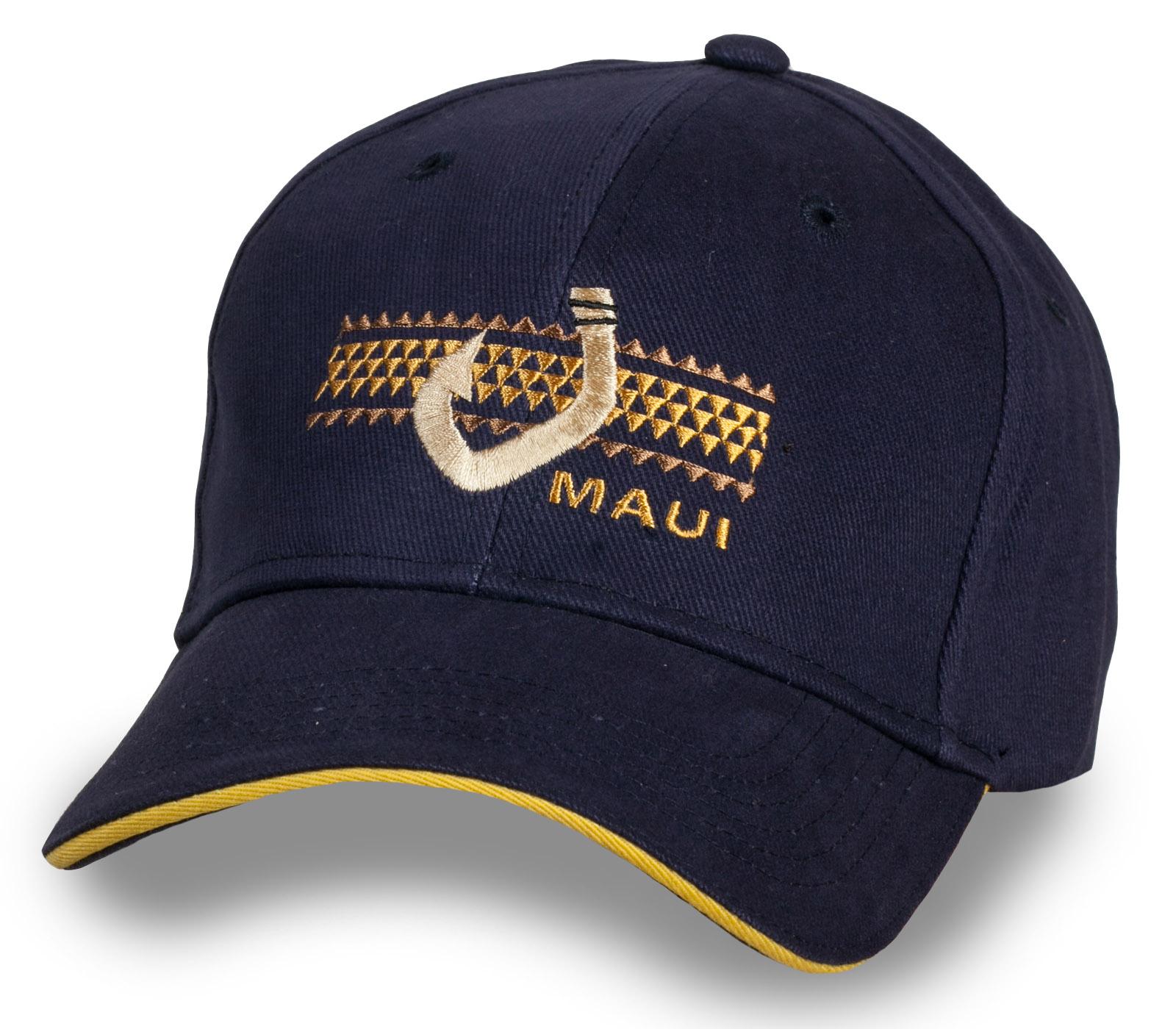 Стильная черная бейсболка Maui
