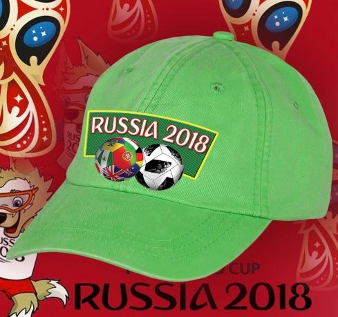 Стильная фанская кепка RUSSIA 2018.
