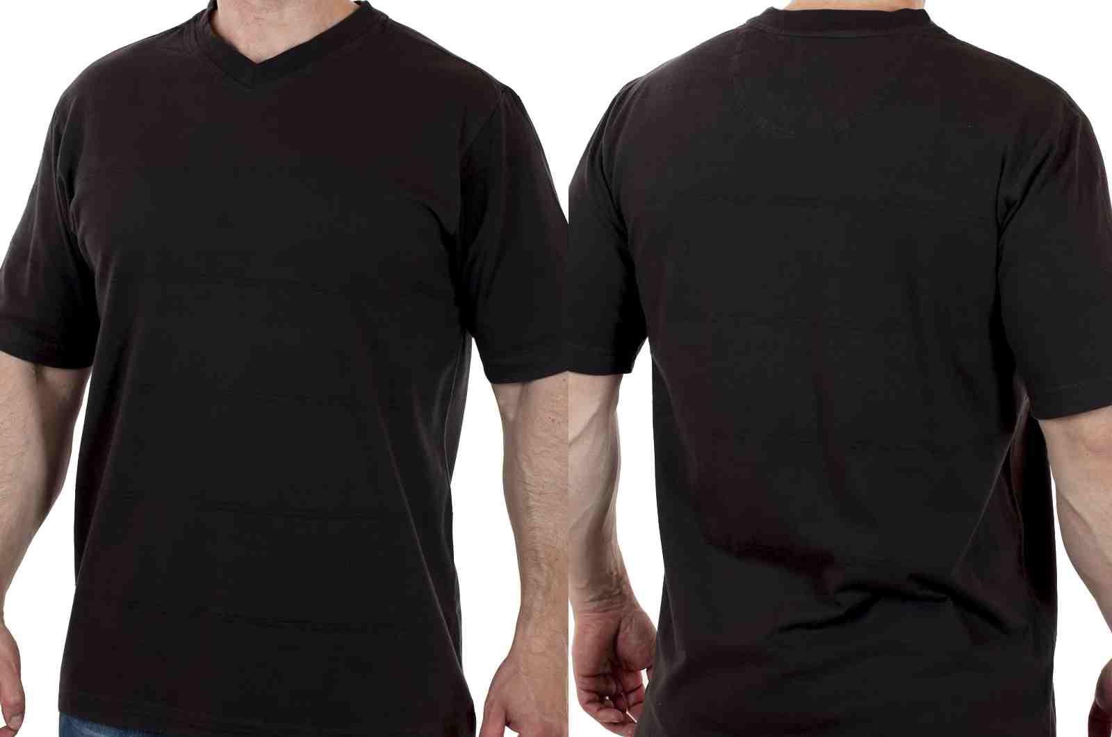 Стильная футболка от американского бренда Roundtree&Yorke-двойной ракурс