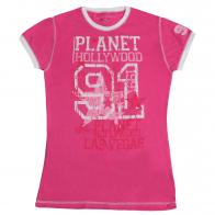 Стильная футболка Planet Hollywood. Нежный розовый цвет, 100% хлопок