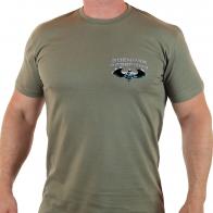 """Стильная футболка с термотрансфером """"100 лет военной разведке"""""""