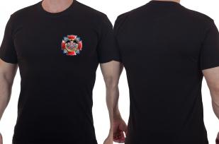 """Стильная футболка с трансфером """"100 лет Военной разведке!"""