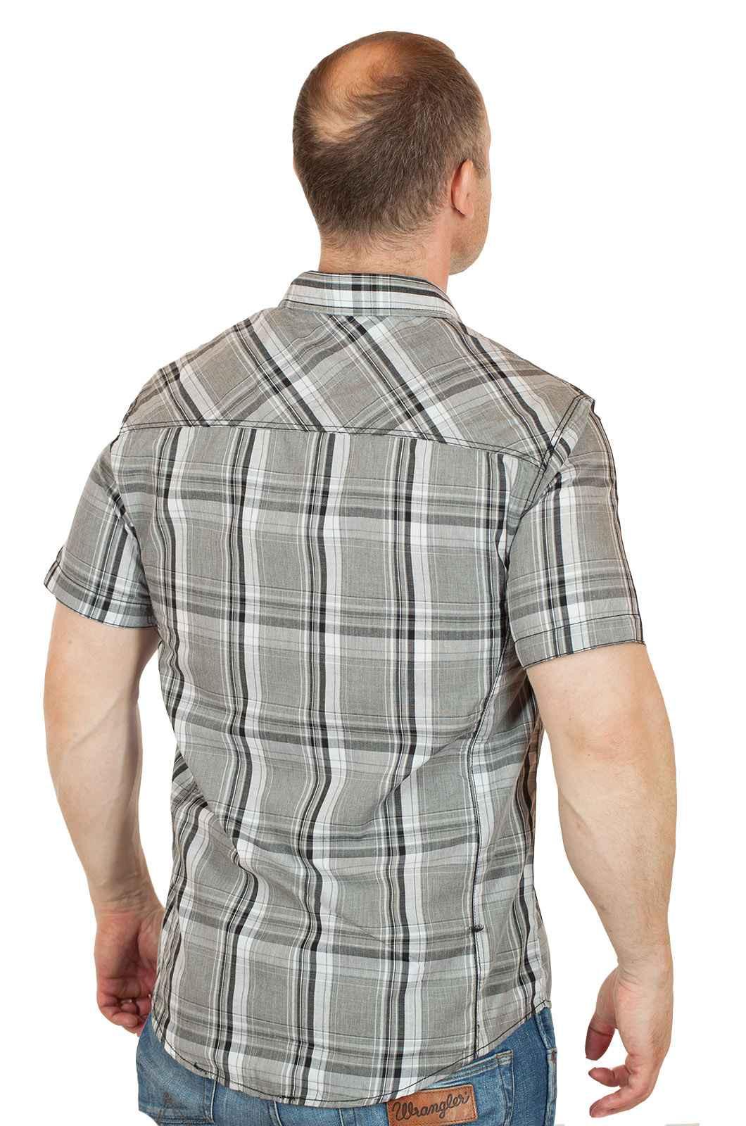 Стильная городская мужская рубашка от Machine-вид сзади