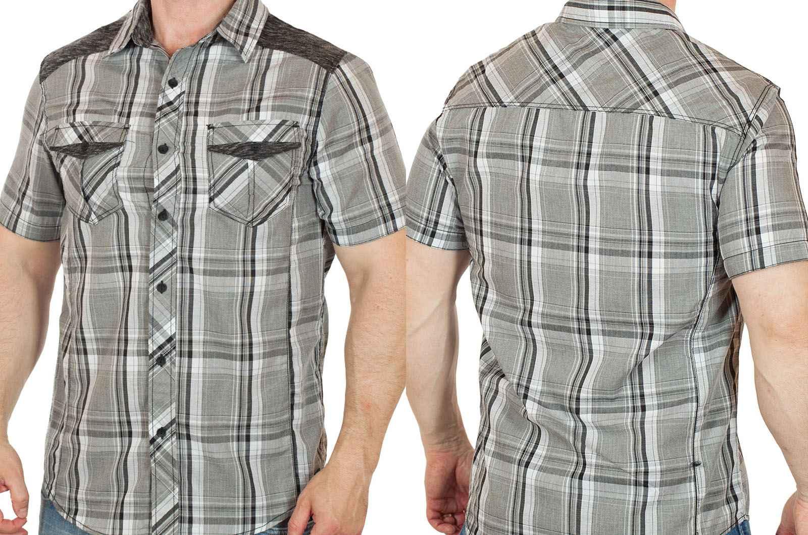 Стильная городская мужская рубашка от Machine-двойная фотка