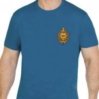 Стильная хлопковая футболка с вышитой эмблемой МВД