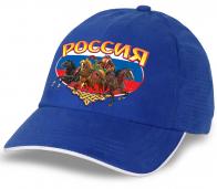 """Стильная кепка """"Россия"""" с медведем на тройке. Эффектный головной убор для настоящих патриотов!"""