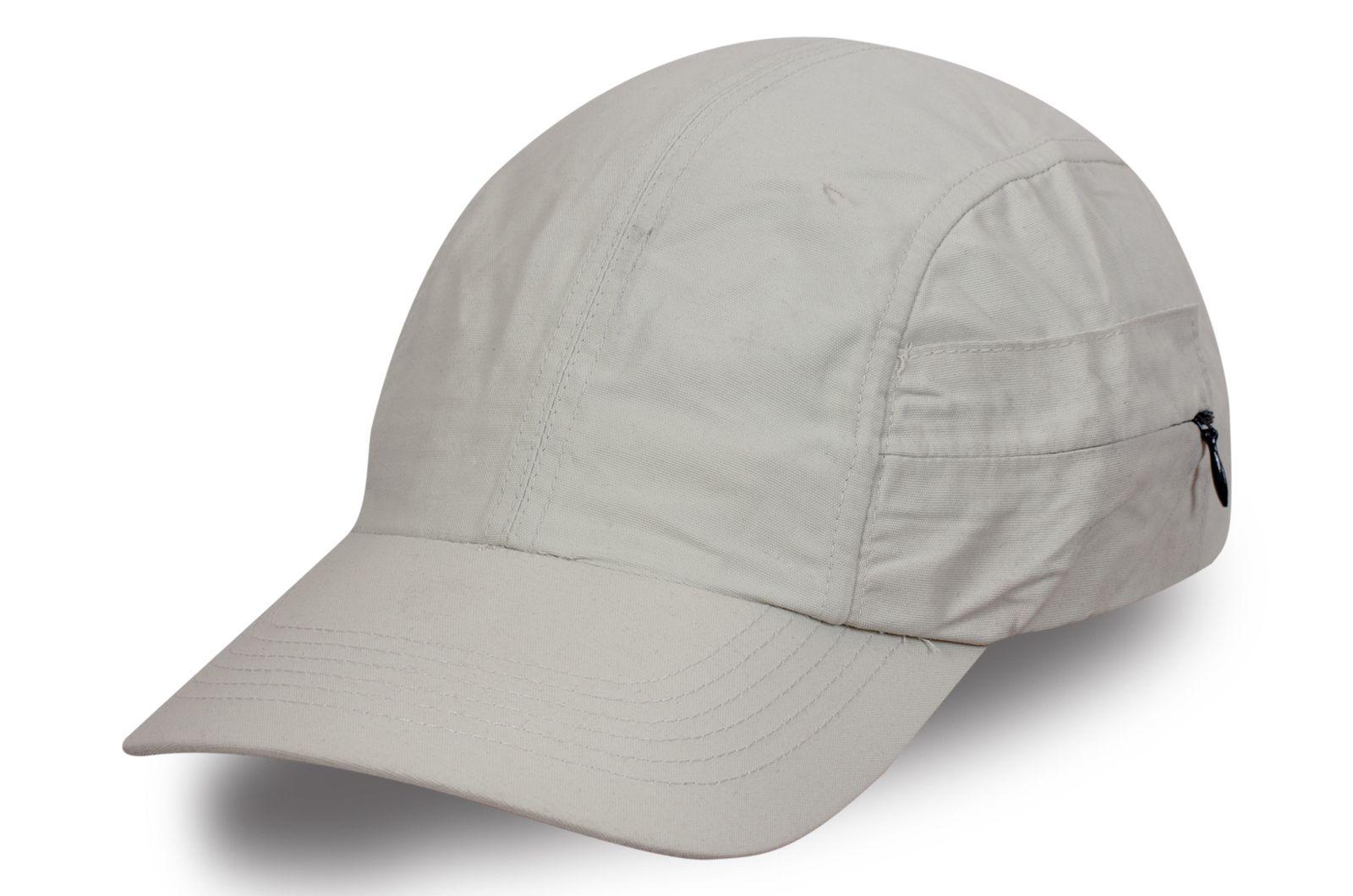 Стильная кепка серая