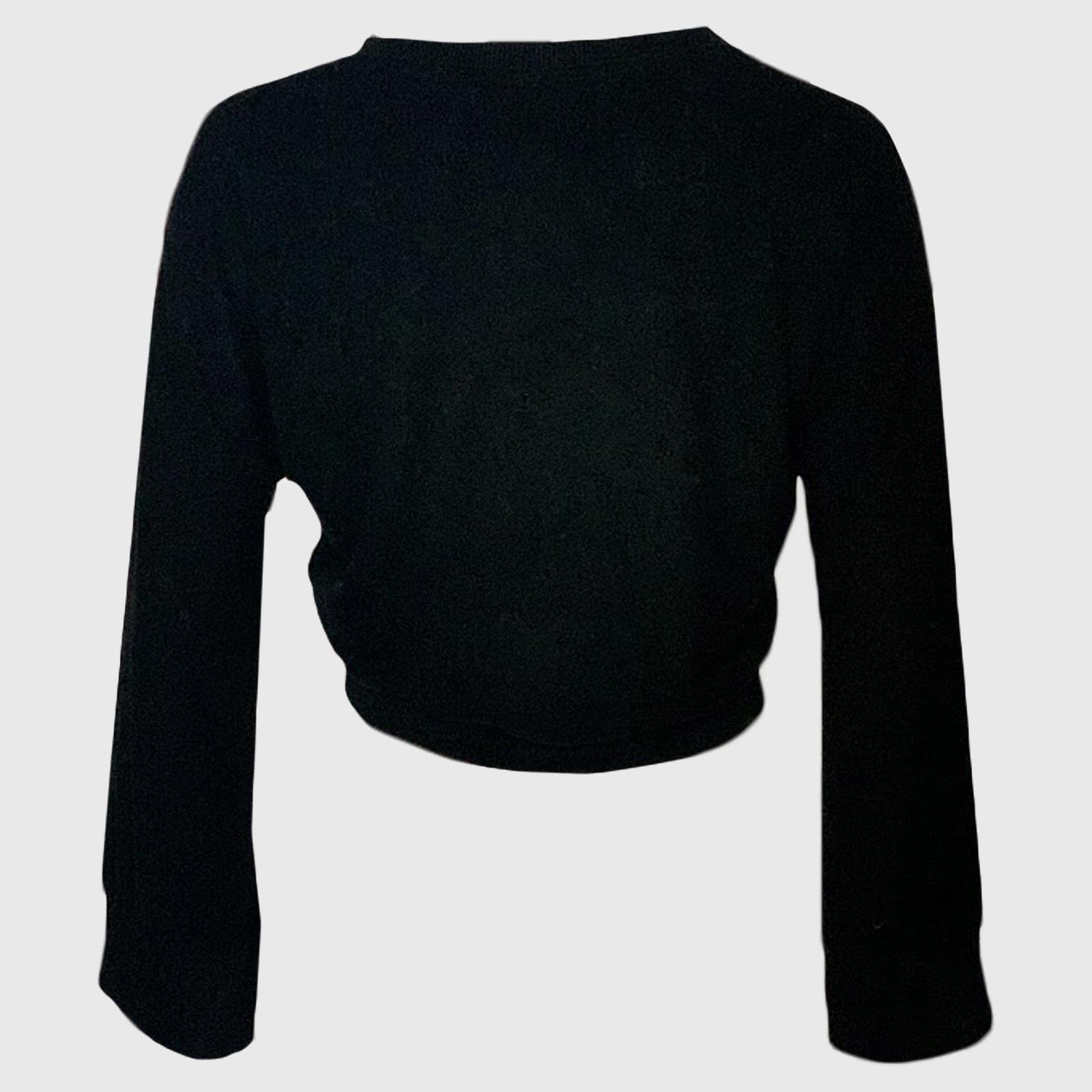 Черный укороченный женский джемпер