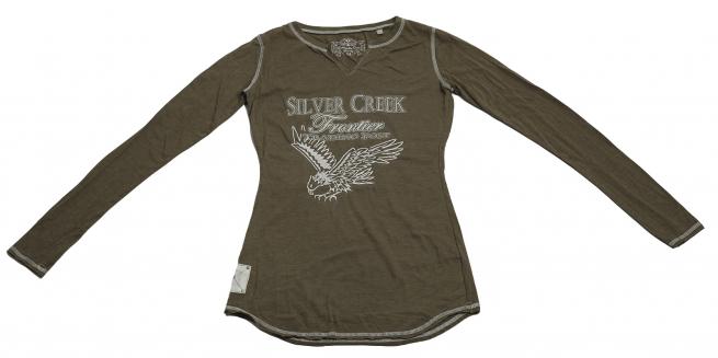 Стильная кофточка Panhandle Slim с принтом и надписью Silver Creek